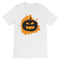Halloween Pumpkin T-Shirt White Unisex