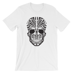 Halloween Tattoo Skull T-Shirt White Unisex