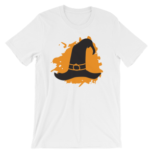 Halloween Witches Hat T-Shirt White Unisex