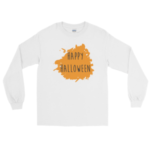 Happy Halloween Long Sleeve T-Shirt White Unisex