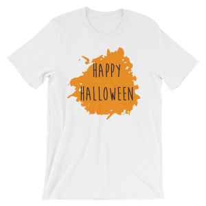 Happy Halloween T-Shirt White Unisex