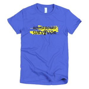 Hoverboard Survivor Womens T-Shirt Blue