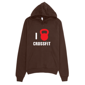 I Love Crossfit Hoodie Brown