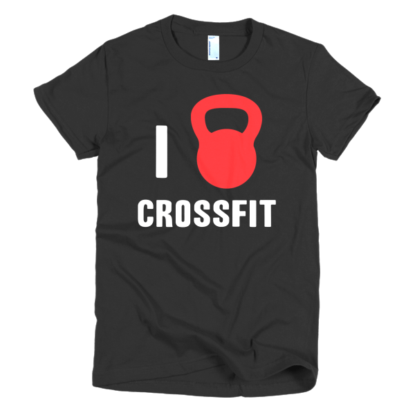 I Love Crossfit Womens Tee Black