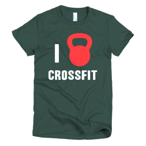 I Love Crossfit Womens Tee Forest