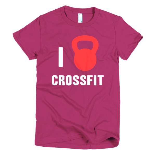 I Love Crossfit Womens Tee Raspberry