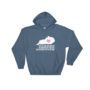 Kentucky Girl Hooded Sweatshirt Indigo Blue Unisex