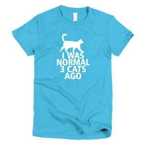 I Was Normal 3 Cats Ago - Ladies Funny Cat T-Shirts