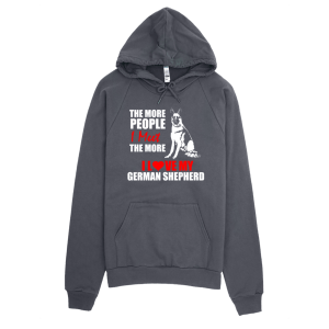 Love My German Shepherd Hoodie Asphalt