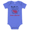 Sweet Collection Short Sleeve Blue Baby Onesie