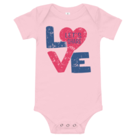 Share Love Short Sleeve Pink Baby Onesie