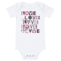All Love Short Sleeve White Baby Onesie
