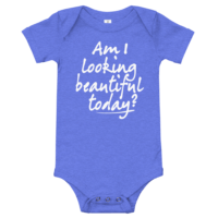 Beautiful Today Short Sleeve Blue Baby Onesie