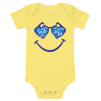 Smile With Me Short Sleeve Yellow Baby Onesie
