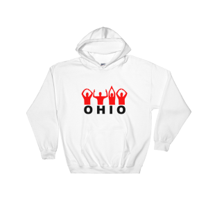 Ohio Hands Sign Hooded Sweatshirt White Unisex