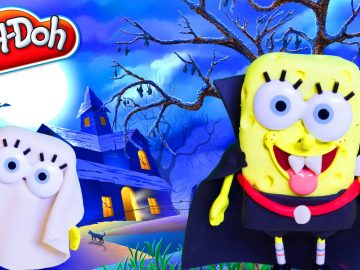 DIY Play Doh Halloween Costume Play Doh Halloween SpongeBob Ghost Halloween Costume