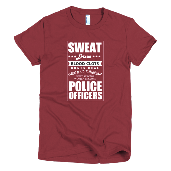 Strong Women Become Police - Police Graphic T-Shirts