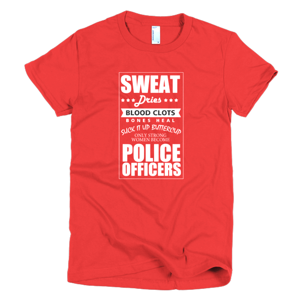 Strong Women Become Police - Police Graphic Tees