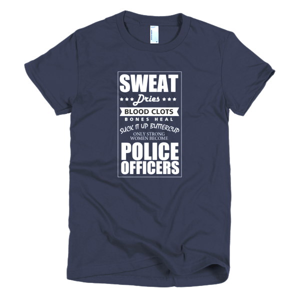 Strong Women Become Police - Police Tees