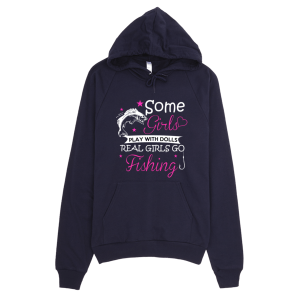 Real Girls Go Fishing Hoodie Navy