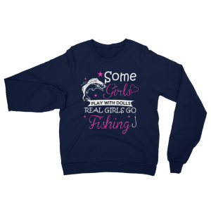 Real Girls Go Fishing Sweatshirt Navy