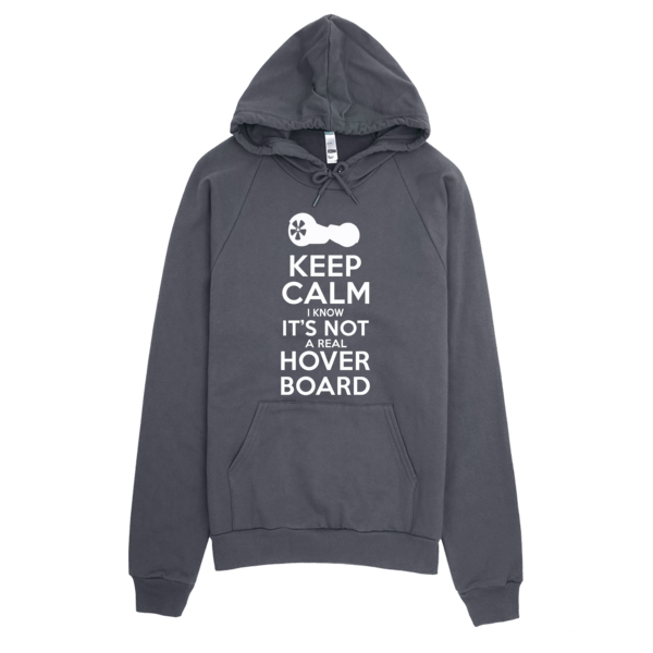 Not A Real Hoverboard Keep Calm Hoodie Asphalt