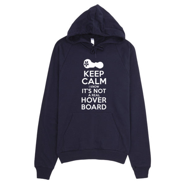 Not A Real Hoverboard Keep Calm Hoodie Navy