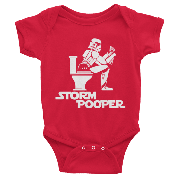 Storm pooper star wars short sleeve baby onesies shirterrific