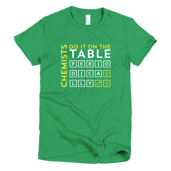 T Shirts For Geeks - Chemists Do It On The Table Periodically T Shirt