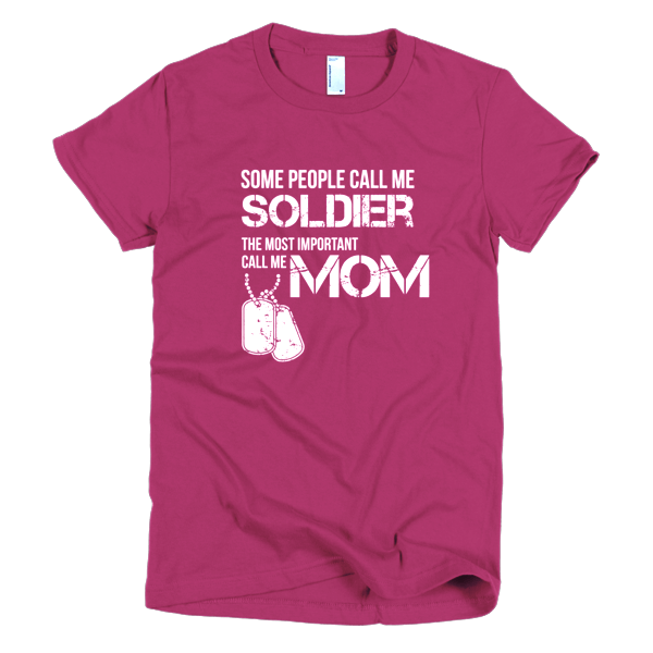 T Shirts For Moms - Soldier Mom