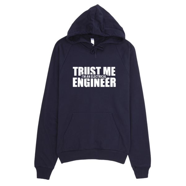 Trust Me I'm An Electrical Engineer Hoodie Navy