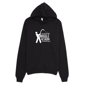 Wiggle My Worm Fishing Hoodie Black
