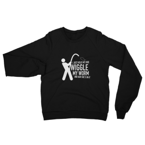 Wiggle My Worm Fishing Sweatshirt Black