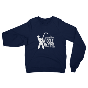 Wiggle My Worm Fishing Sweatshirt Navy