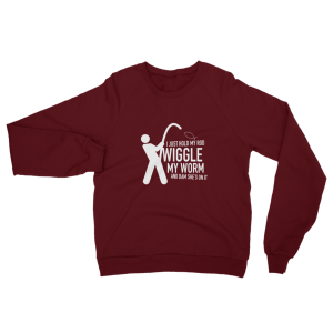 Wiggle My Worm Fishing Sweatshirt Truffle